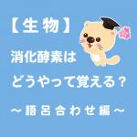 【生物】消化酵素はどうやって覚える?~語呂合わせ編~